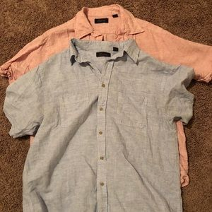 Other - Linen short sleeve shirt bundle (2)